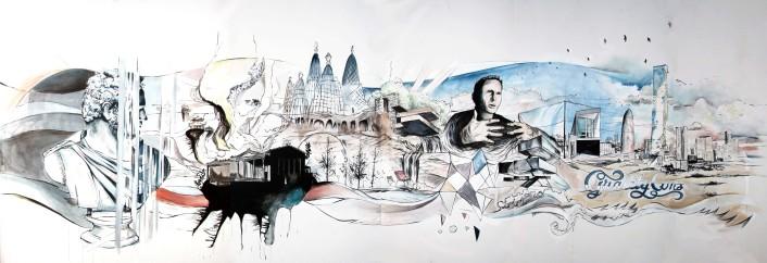 Oriol Moragrega Interior Mural
